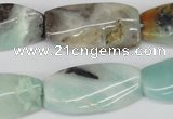 CTW104 15.5 inches 15*30mm twisted rectangle amazonite beads