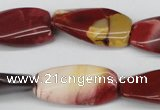 CTW116 15.5 inches 15*30mm twisted rectangle mookaite beads