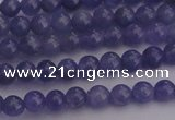 CTZ500 15.5 inches 4mm round natural tanzanite gemstone beads