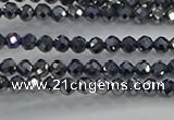 CTZ609 15.5 inches 3mm faceted round terahertz beads wholesale