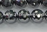 CTZ622 15.5 inches 8mm faceted round terahertz beads wholesale