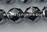 CTZ635 15.5 inches 14mm faceted nuggets terahertz beads wholesale