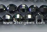 CTZ642 15.5 inches 8mm faceted round terahertz beads wholesale