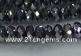 CTZ645 15.5 inches 5*8mm faceted rondelle terahertz beads wholesale