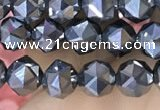 CTZ655 15.5 inches 6mm faceted nuggets terahertz beads wholesale