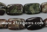 CUG155 15.5 inches 13*18mm rectangle australian unakite beads