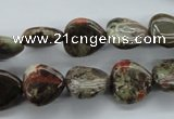 CUG162 15.5 inches 13*13mm heart australian unakite beads