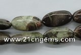 CUG169 15.5 inches 10*20mm oval australian unakite beads