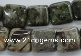 CUG174 15.5 inches 15*15mm square australian unakite beads