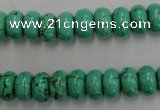CWB685 15.5 inches 6*10mm rondelle howlite turquoise beads wholesale