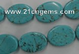 CWB734 15.5 inches 13*18mm oval howlite turquoise beads wholesale