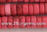 CWB838 15.5 inches 3*6mm tyre howlite turquoise beads wholesale