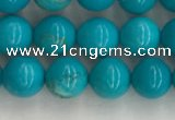 CWB851 15.5 inches 6mm round howlite turquoise beads wholesale