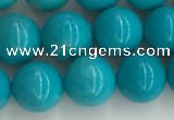 CWB852 15.5 inches 8mm round howlite turquoise beads wholesale