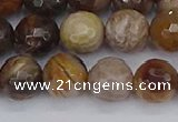 CWJ478 15.5 inches 10mm faceted round wood jasper gemstone beads
