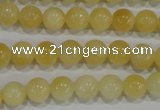 CYJ161 15.5 inches 8mm round yellow jade beads wholesale