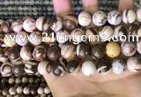 CZJ294 15.5 inches 12mm round brown zebra jasper beads wholesale