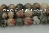 CZJ550 15.5 inches 4mm round pink zebra jasper beads wholesale