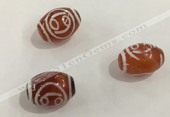 DZI377 10*14mm drum tibetan agate dzi beads wholesale