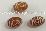DZI378 10*14mm drum tibetan agate dzi beads wholesale