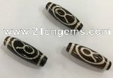 DZI459 10*30mm drum tibetan agate dzi beads wholesale
