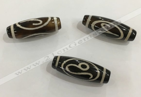 DZI465 10*30mm drum tibetan agate dzi beads wholesale