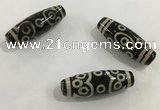 DZI490 10*30mm drum tibetan agate dzi beads wholesale