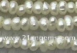 FWP14 14.5 inches 1.8mm potato white freshwater pearl strands