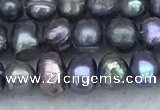FWP31 14.5 inches 4mm - 4.7mm potato black freshwater pearl strands
