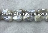 FWP364 15 inches 20mm - 22mm baroque freshwater nucleated pearl beads