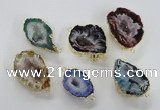 NGC451 18*25mm - 25*35mm freeform druzy agate gemstone connectors