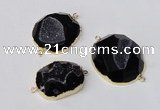 NGC494 25*30mm - 35*40mm freefrom druzy agate gemstone connectors