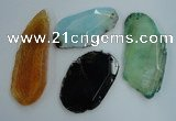 NGP1264 35*45mm - 45*65mm freeform agate gemstone pendants wholesale