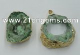 NGP1421 30*40mm - 45*55mm freeform plated druzy agate pendants