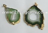 NGP1429 30*45mm - 45*55mm freeform plated druzy agate pendants