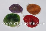 NGP1539 45*55mm - 50*60mm freeform agate gemstone pendants