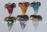 NGP1592 32*42mm - 35*45mm agate gemstone pendants