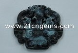NGP1642 63*65mm Carved dyed natural hetian jade pendants wholesale