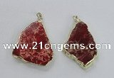 NGP2284 30*40mm - 40*50mm freeform sea sediment jasper pendants