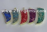 NGP2445 18*40mm - 20*50mm horn sea sediment jasper pendants