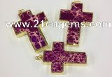 NGP2533 30*45mm - 40*50mm cross sea sediment jasper pendants
