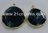 NGP3249 40*45mm - 50*55mm freeform agate gemstone pendants