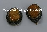 NGP3680 35*45mm freeform plated druzy agate gemstone pendants