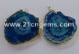 NGP3835 50*65mm - 60*70mm freeform druzy agate pendants