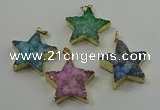 NGP4098 30*32mm - 32*35mm star druzy quartz pendants wholesale